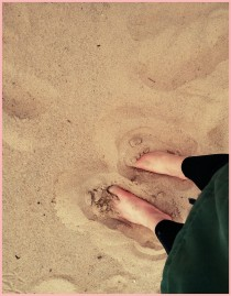 Walking barefoot on a soft terrain helps strengthen and retrain feet and ankles
